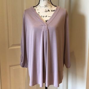 Adrianna Papell Popover Lavender Top